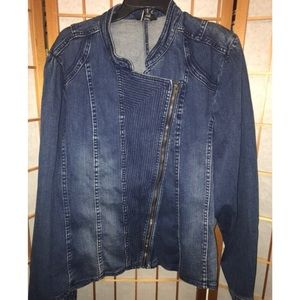 Denim Plus size Moro Style Jacket